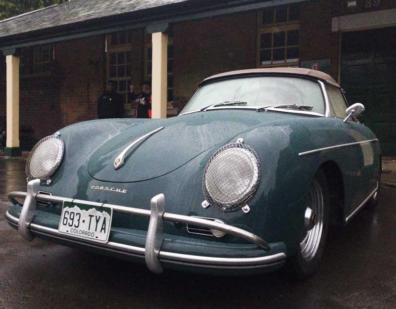 not the weather for it, but still, how cool is this Porsche 356 convertible