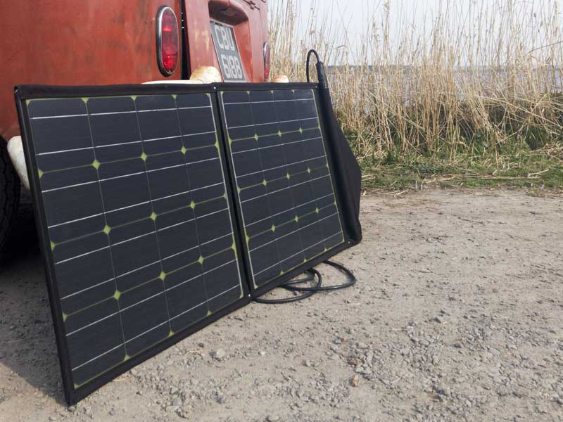 our first use of the new foldable solar set-up - worked a treat!
