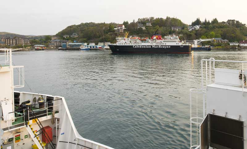 leaving the ferry port of Oban… next stop the Isle of Mull