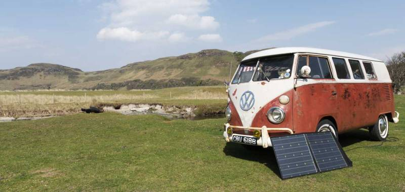 solar power top up in the Scottish sunshine
