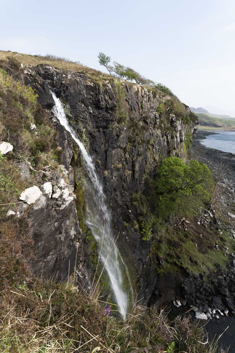 Eas Fors ends as the final fall plunges over the edge of the cliff