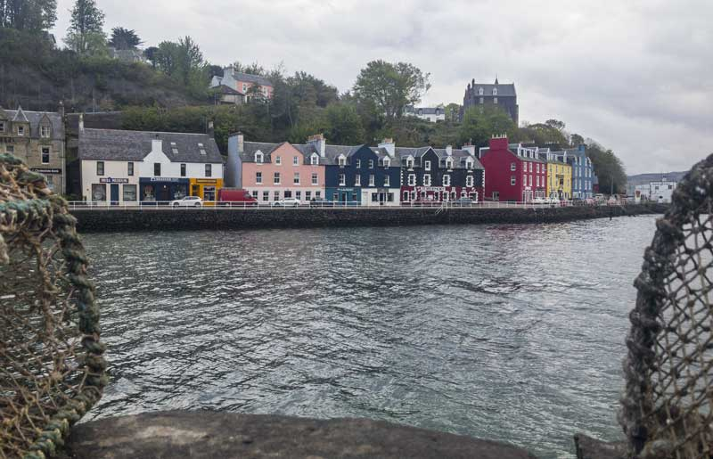 the picturesque colourful harbour frontage of Tobermory