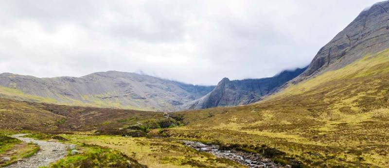a scenic walk to the Fairy Pools of Skye