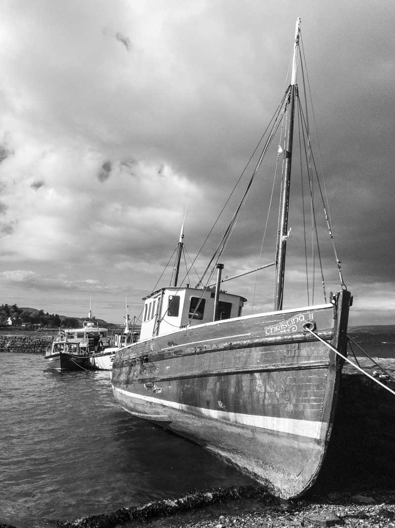 traditional fishing boat at Broadford