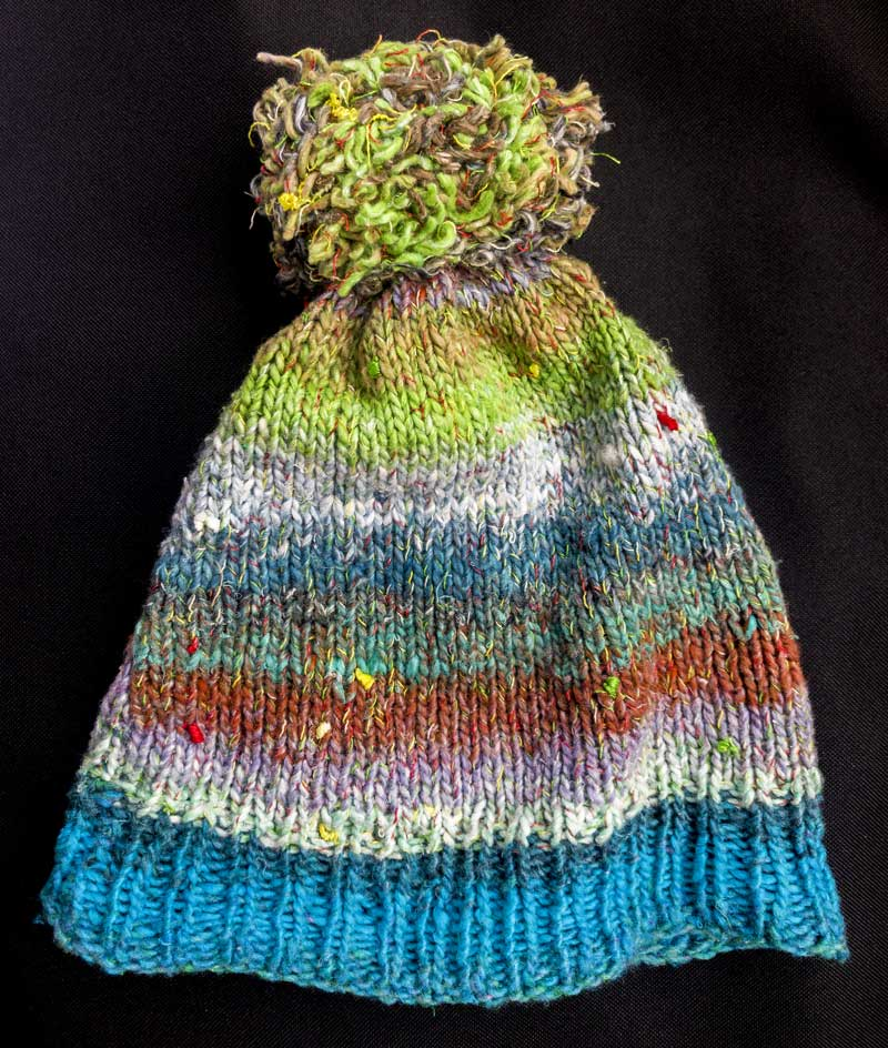 my new über cool (hand made by Lorna) Noro Silk Garden hat