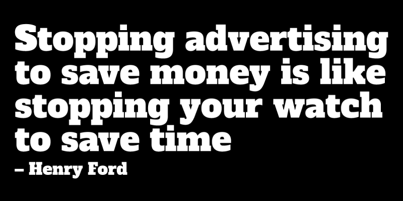 advertising quote by Henry Ford