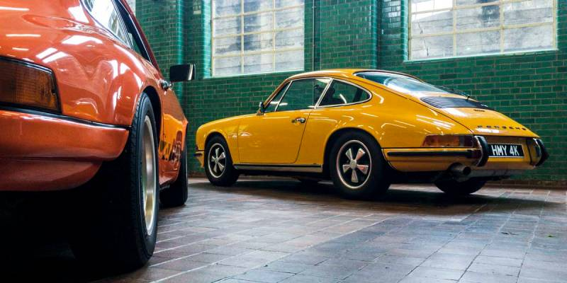 classic Porsche 911 sports cars