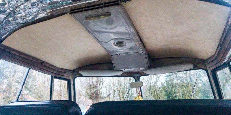 test fitting the cab ply headliner panels