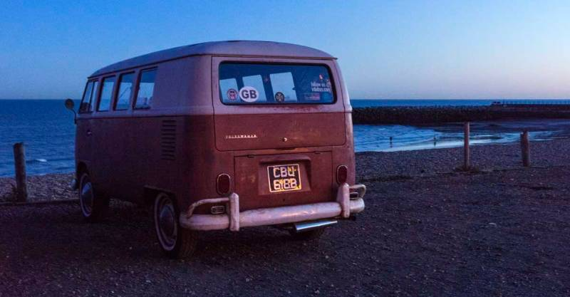 sunset air-cooled cruise to Rock A Nore beach