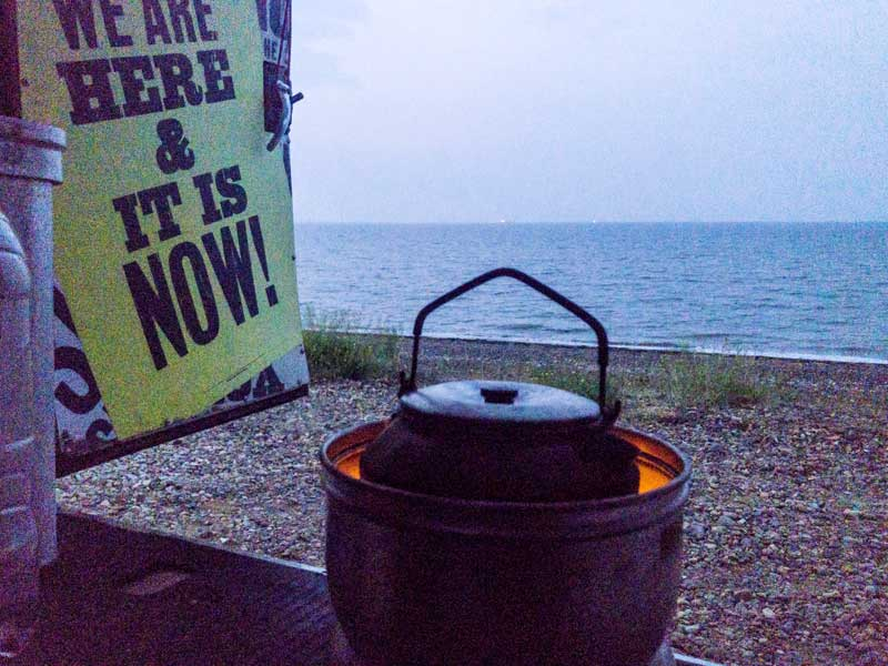 twilight tea by the sea