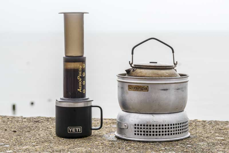 AeroPress and a Trangia – the perfect combo for coffee on the go