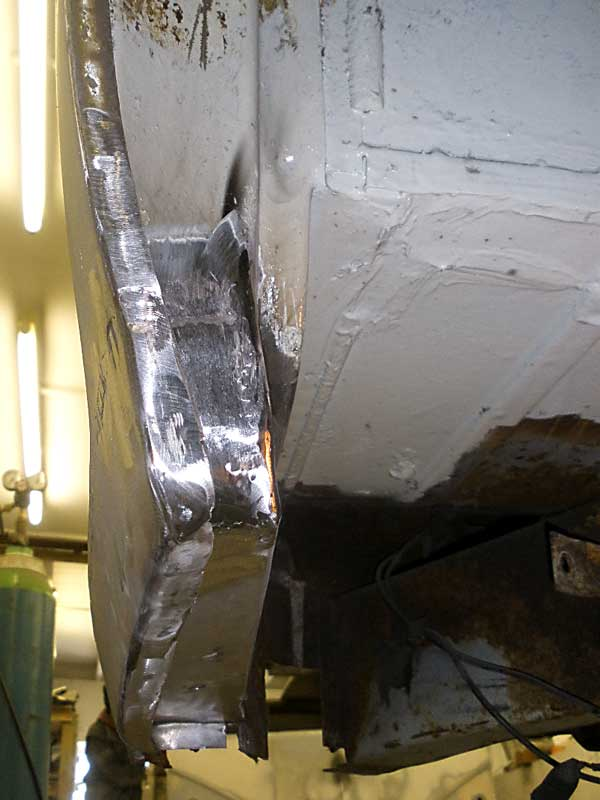 One section of metal repair work begins to come together nicely
