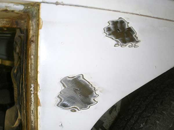 Often bubbled paintwork on the surface = issues going on underneath the paint!