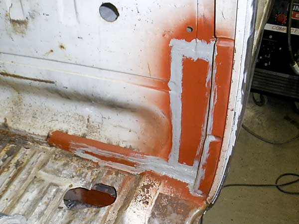 Apply seam sealer to all the newly welded joints to provide additional moisture protection