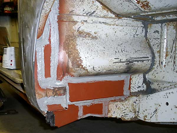 Give a protective coat of Red Oxide primer and seam seal all joints for added protection