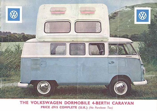 VW Dormobile 4 person pop top camping conversion with 'Dormatic' seating!