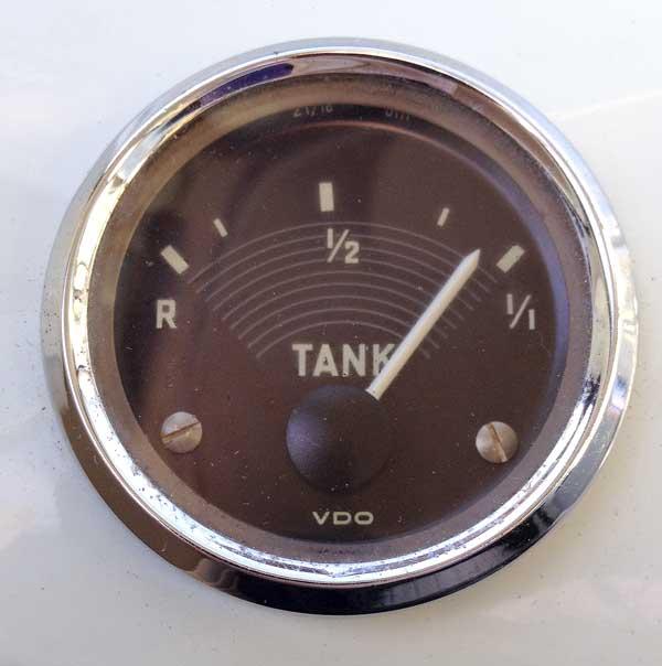 Original VW split screen fuel gauge working again!