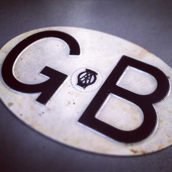 Vintage combined GB and AA (Automobile Association) badge