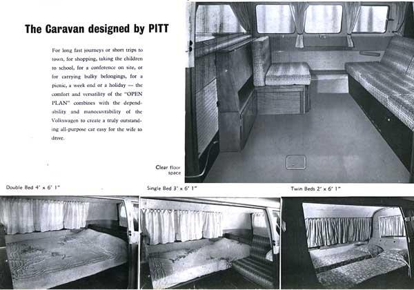 the original Canterbury Pitt offered a variety of flexible sleeping arrangements