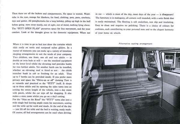 the original Canterbury Pitt 'open plan' alternative seating arrangement