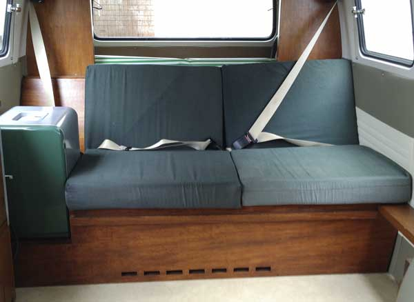 3/4 Rear seating with storage under and 12v cooler