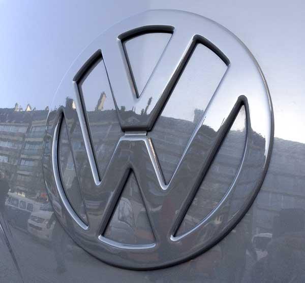 vintage VW given a contemporary monochromatic paint scheme