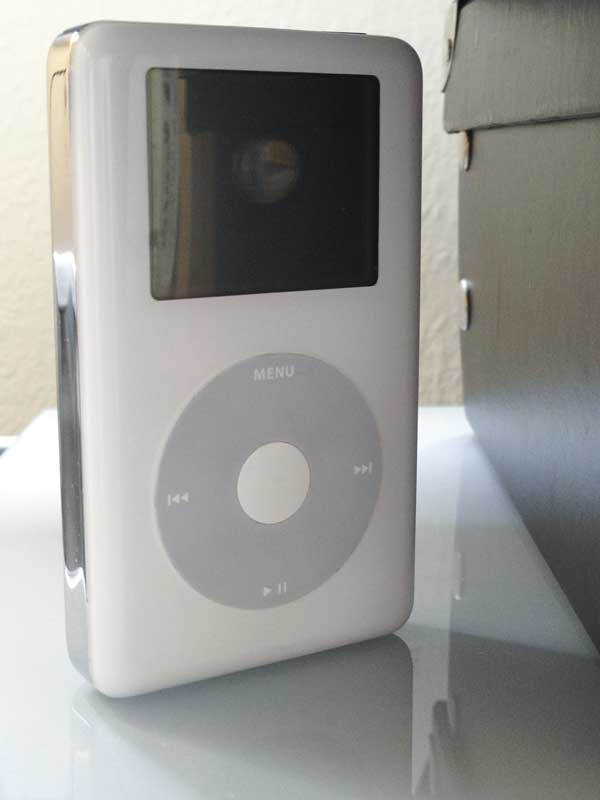 my 4th generation Apple iPod; hiding away, loved but unused