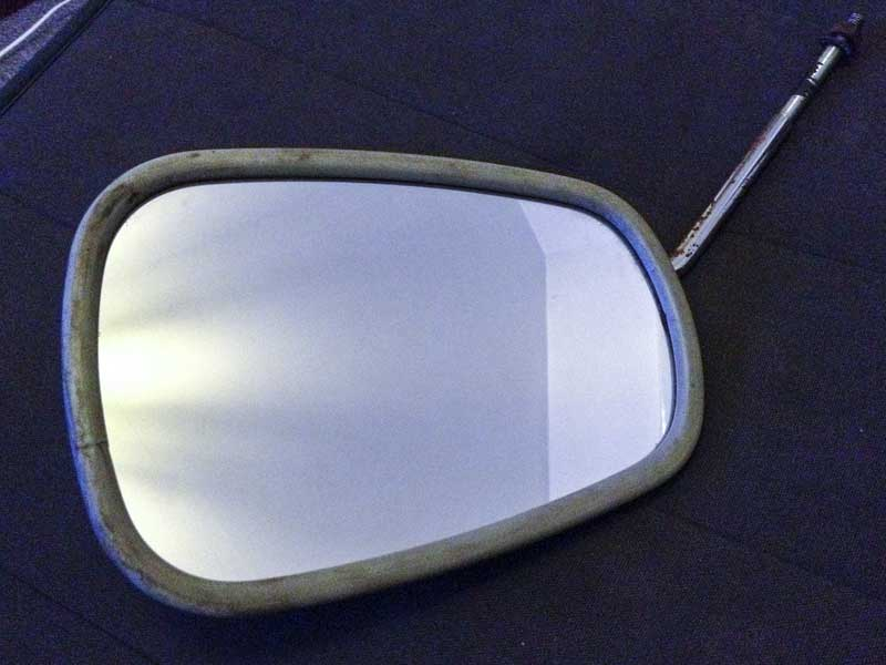 'elephant ear' mirror complete – not perfect, but in usable condition
