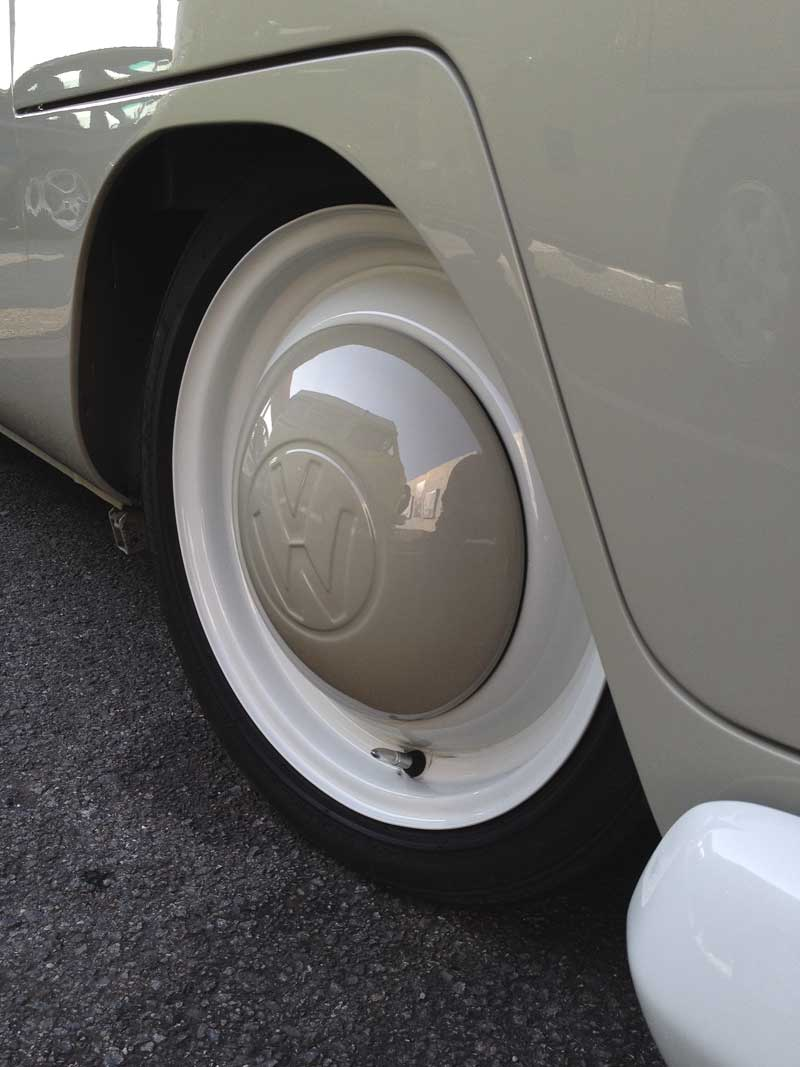 stock looking rims with big logo painted hubcaps