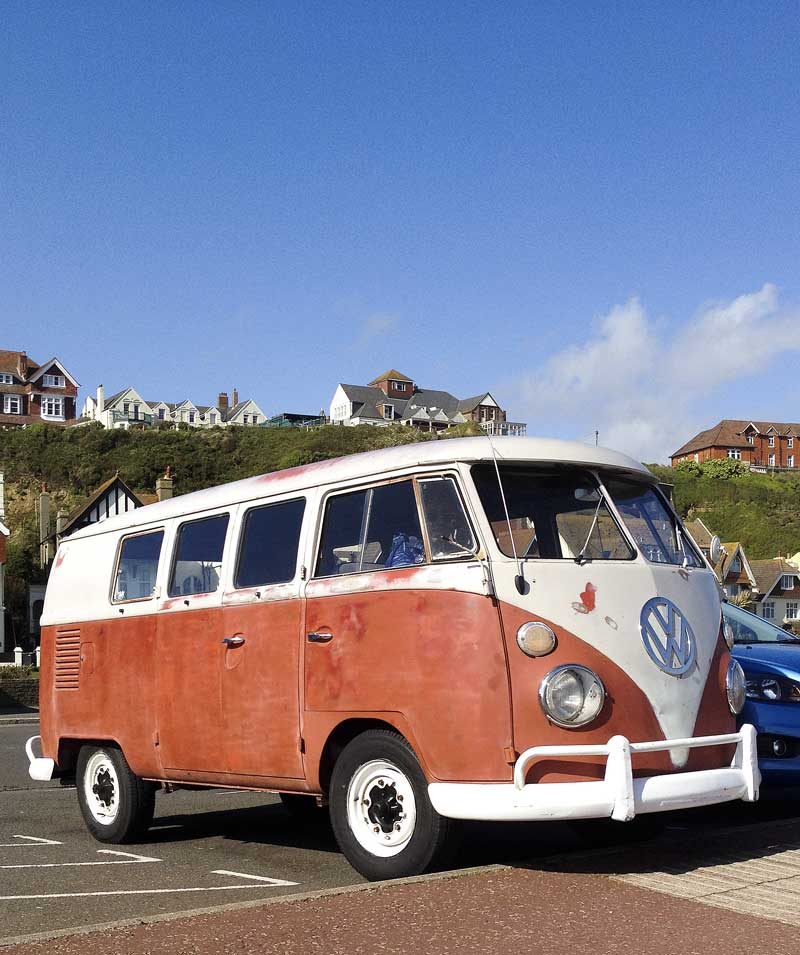 good to be back home again in my VW bus by the sea