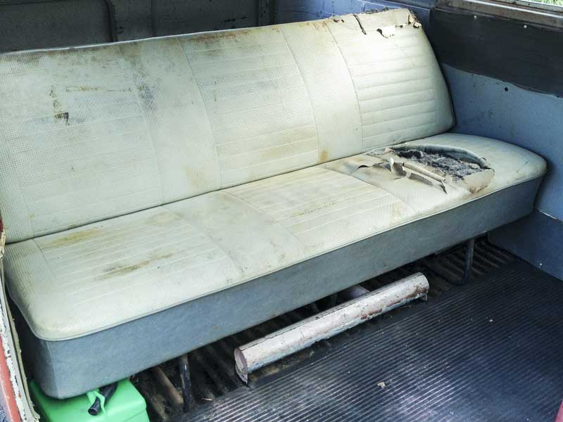 Original vintage VW full width rear bench seat