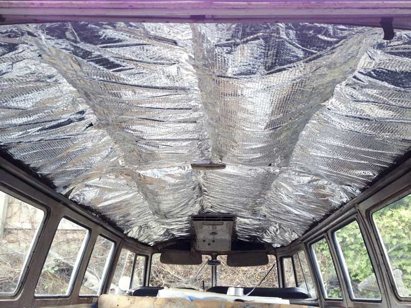 sorted – the roof is now fully insulated with the Triso Super 10 plus insulation