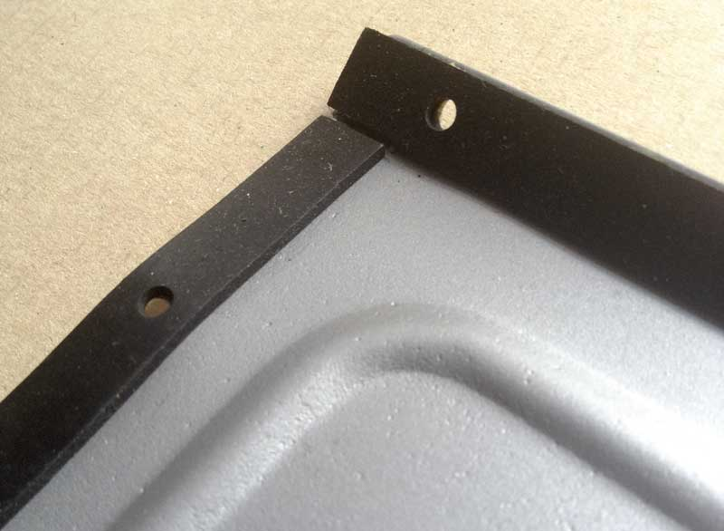new rubbers fitted to the four inside edges of the vent cover plate