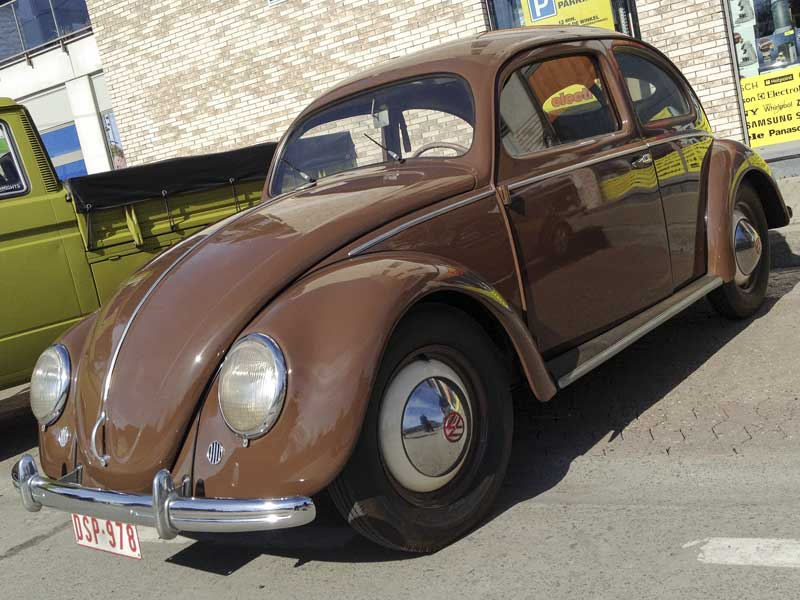 simple elegance of the iconic early VW Beetle