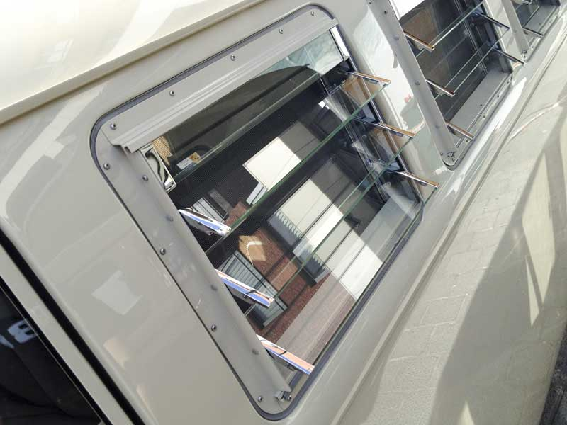 amazing attention to detail with these polished SO42 Westy louvre windows