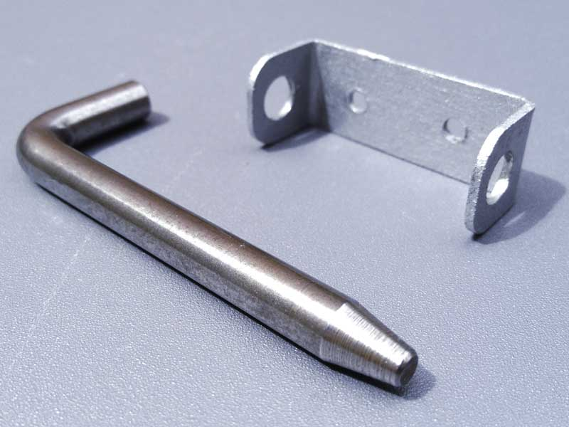 new check strap retaining pin and bracket from Fabrik Interiors