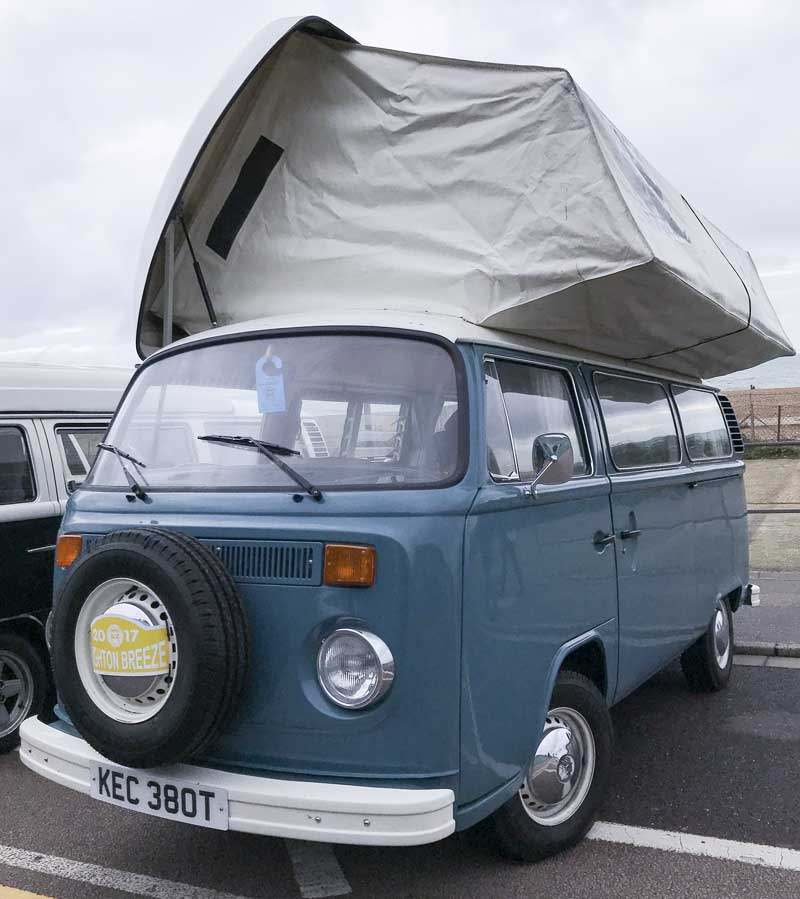 plenty of room up top with this super Viking camper conversion
