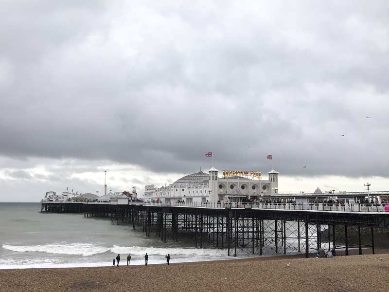 grey clouds, but a mostly dry day out at Brighton Breeze 2017
