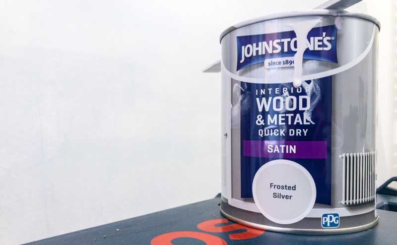 satin frosted silver paint for the final finish