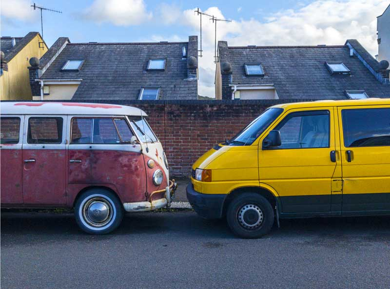 air-cooled camper meets water-cooled counterpart
