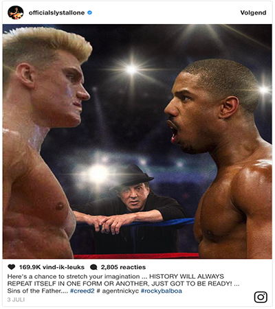 """Sylvester Stallone Post Cryptisch Bericht """"Drago"""" Terug In Creed 2"""