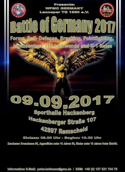 WFMC BATTLE OF GERMANY 9 SEPTEMBER 2017