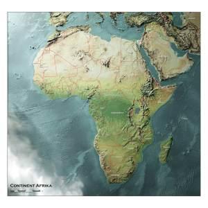 3D kaart Afrika