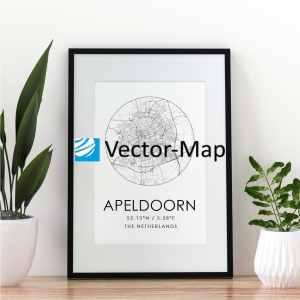 kaart poster Apeldoorn