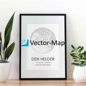 kaart poster Den Helder