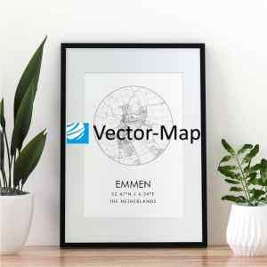 kaart poster Emmen