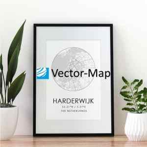 kaart poster Harderwijk
