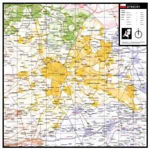 Gekleurde gemeentekaart Utrecht