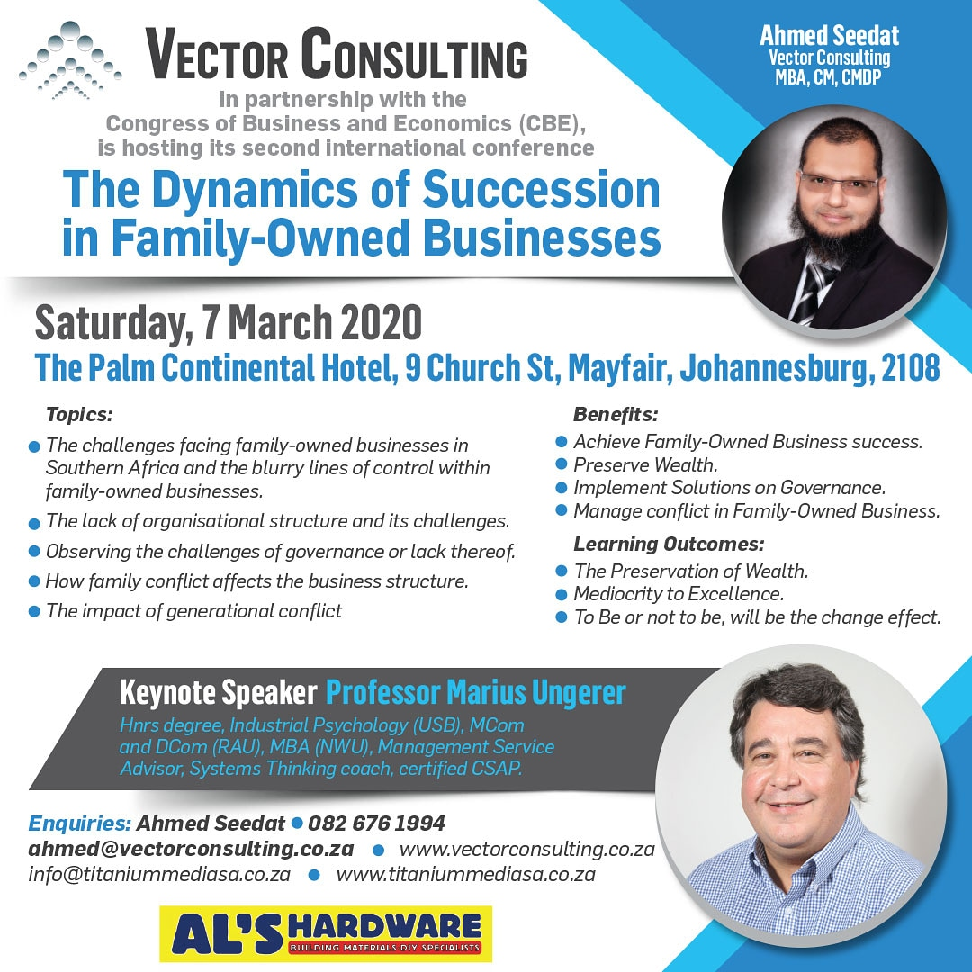 The Dynamics of Succession in Family-Owned Businesses Johannasburg 7 March 2020