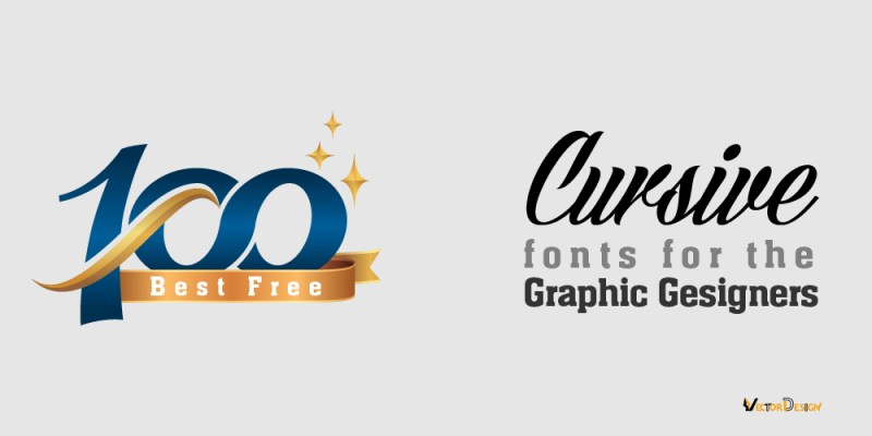 100 best Free Cursive fonts for the graphic designers
